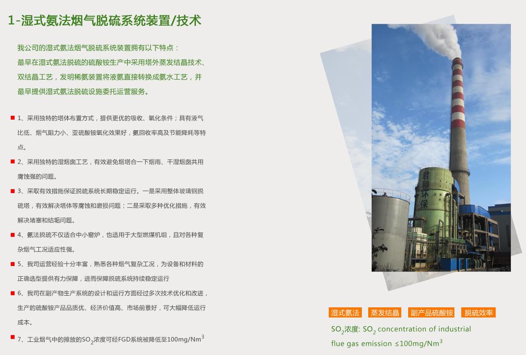 1-湿式氨法烟气脱硫系统装置/技术