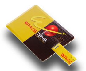 双面彩印卡片U盘 可定制双面彩印内容、U盘容量、U盘包装