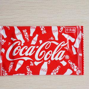 可口可乐定制湿巾展示