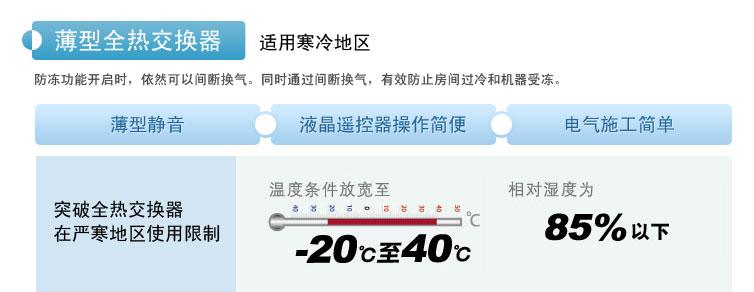 薄型全热交换器薄型静音、操作简便、施工简单