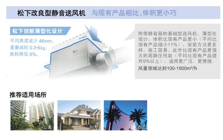 静音型送风机推荐适用公寓、别墅、酒店